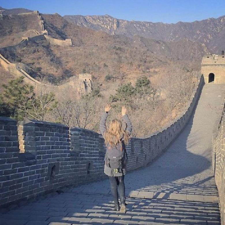Grande Muralha da China (Foto: Arquivo Pessoal/Megan Sullivan)