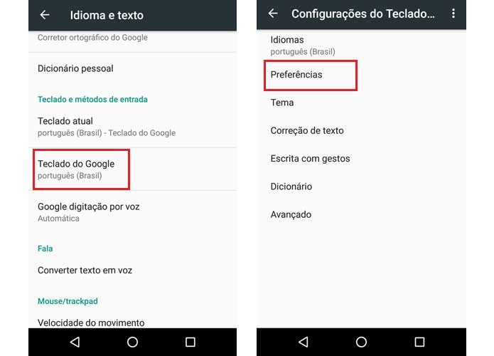 Teclado Google7.3