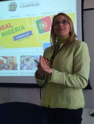 Alexandra Caprioli diretora de turismo Campinas Copa do Mundo Portugal Nigéria (Foto: Marcello Carvalho)