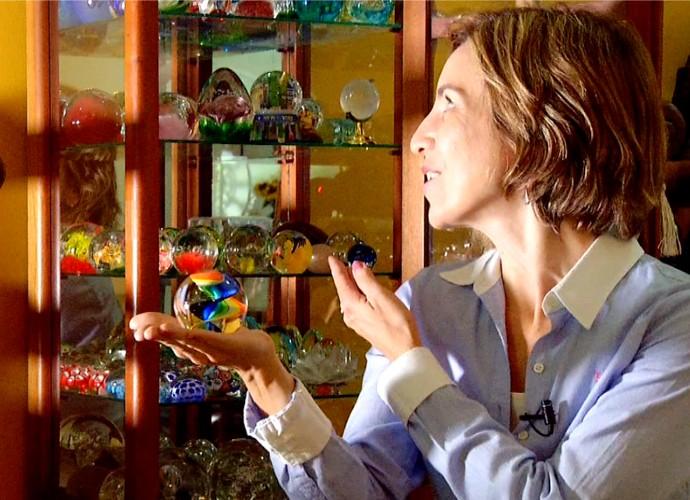 Teresa Freitas vai mostrar coleções curiosas no programa deste sábado (21) (Foto: Rio Sul Revista)