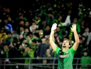André Lima marca seu primeiro gol na China (Foto: Divulgação/Beijing Guoan)