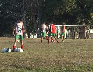 Independência treino Marinho Monte (Foto: Reprodução/TV Acre)