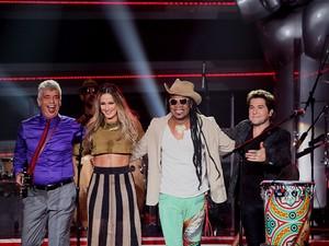 Relembre quem fez parte do time de cada técnico (The Voice Brasil/TV Globo)
