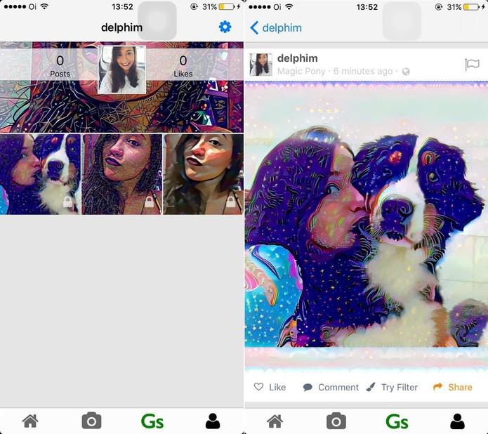Dreamscope possui uma enorme variedade de filtros (Foto:Reprodução)