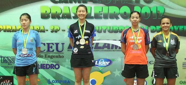 Jéssica Yamada sobe no ´primeiro lugar no Brasileiro de Tênis de Mesa (Foto: Divulgação/CBTM)
