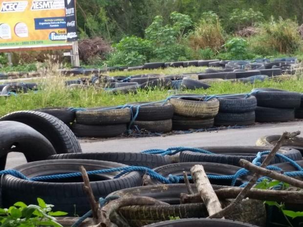 Procurador de Justiça denunciou kart por água acumulada em pneus (Foto: Domingos Sávio de Barros Arruda/ Arquivo pessoal)