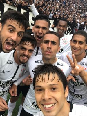 Selfie do Romero Corinthians x Palmeiras