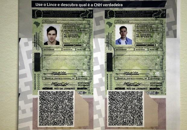 Novo visual da Carteira Nacional de Habilitação (CNH) com código (Foto: Antonio Cruz/Agência Brasil)