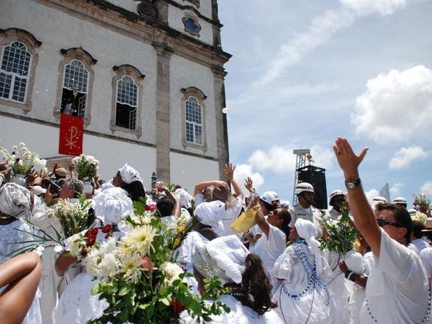 Lavagem do Bonfim (Bahia) (Foto: Ingrid Maria Machado/G1 BA)