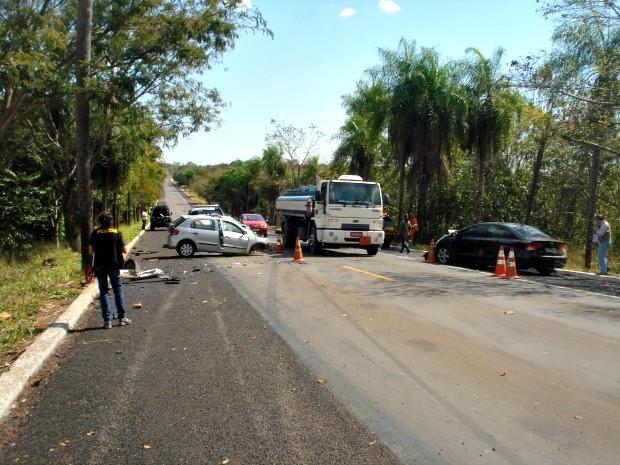 Morre quarta vítima de acidente entre carros na BR-262 em MS (Foto: Raimundo Carlos Falcão/ Arquivo Pessoal)