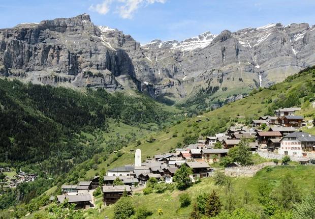 O povoado de Albinen, na Suíça (Foto: Divulgação)