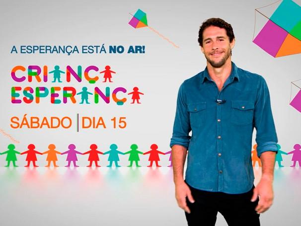 Um dos mobilizadores da campanha Criança Esperança Flávio Canto chama todos para o Especial (Foto: Globo)