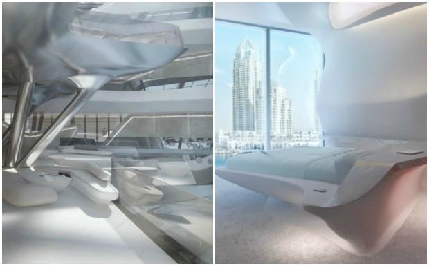 Prdio futurista de Zahar Hadid - hotel (Foto: Divulgao / Zaha Hadid)