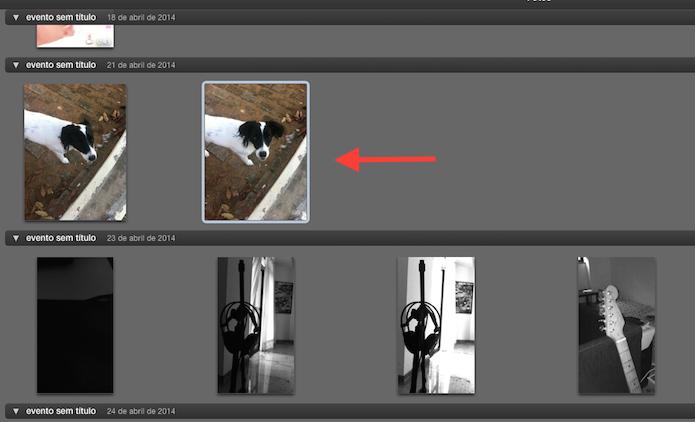 Abrindo a imagem que deseja editar no iPhoto (Foto: Reprodução/Marvin Costa)
