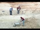 Alunos participam de treinamento sobre coleta de fósseis em Peirópolis