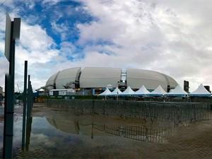 Arena das Dunas, em Natal, será palco de Itália x Uruguai às 13h (Foto: Rafael Barbosa/G1)