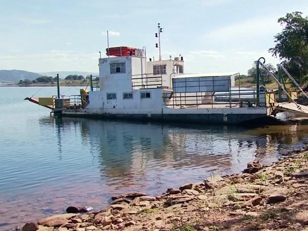 Nível da Represa do Peixoto, entre Delfinópolis e Ibiraci, pode ser reduzido por Furnas (Foto: Reprodução EPTV / Luciano Tolentino)