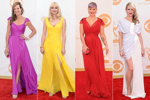 Tendências de moda no Emmy - Allison Janney, Anna Faris, Kelly Osbourne e Lily Rabe (Foto: AFP / Agência)