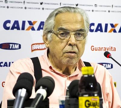 Eurico Miranda, apresentação Riascos, Vasco (Foto: Paulo Fernandes/vasco.com.br)