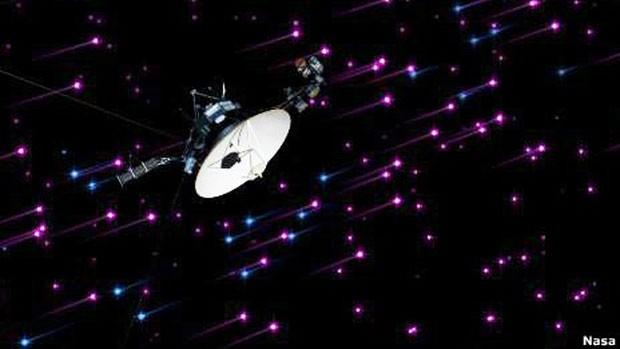A Voyager-1 vinha monitorando mudanças no ambiente ao seu redor que sugeriam a proximidade da fronteira do Sistema Solar (Foto: Nasa/BBC)