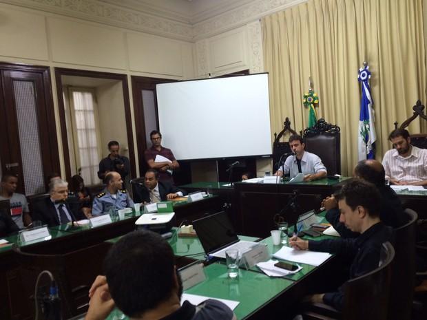 Audiência pública sobre relatório da Anistia Internacional aconteceu nesta segunda (31) (Foto: Gabriel Barreira/G1)