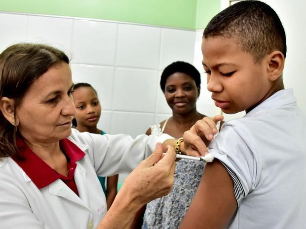 Vacinação contra HPV no Centro de Saúde do Bairro de Fátima (Foto: Secom/Prefeitura de São Luís)