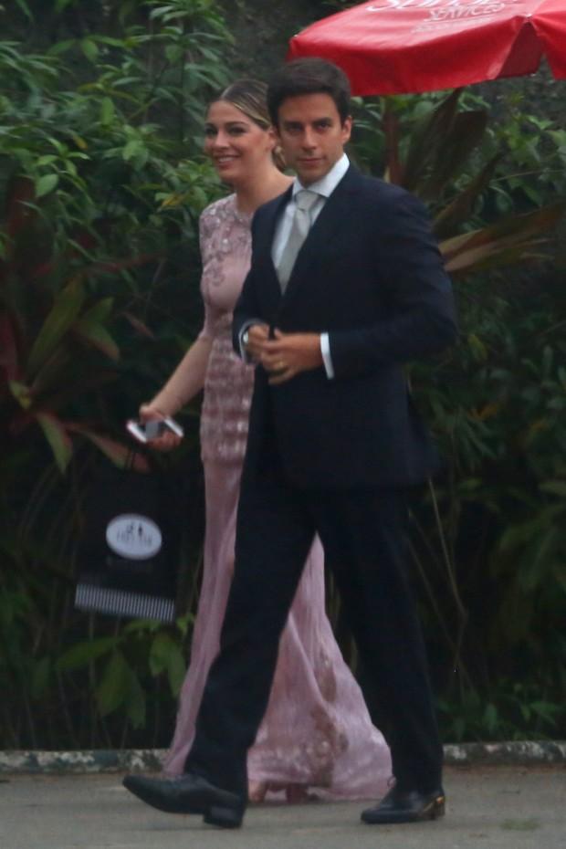 Luma Costa no casamento de Karen Junqueira (Foto: Felipe Assumpção / AgNews)