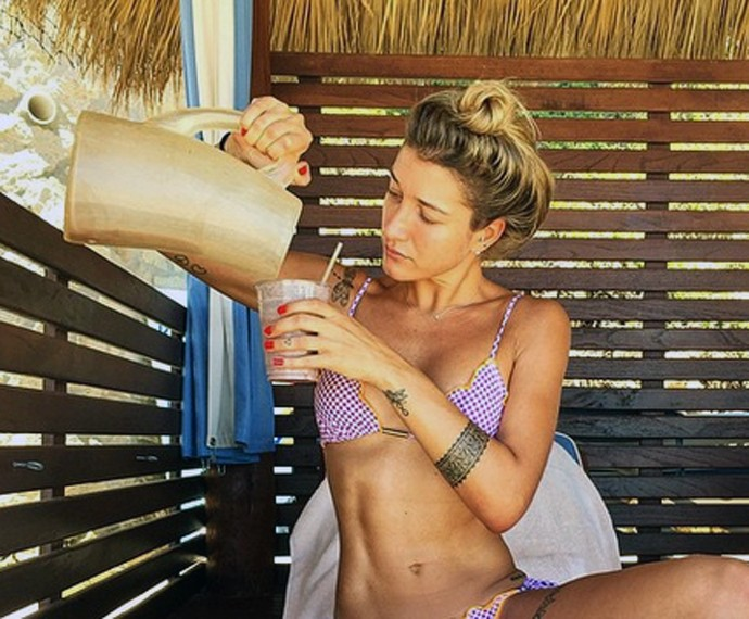 Musa fitness toma café da manhã (Foto: Arquivo Pessoal)