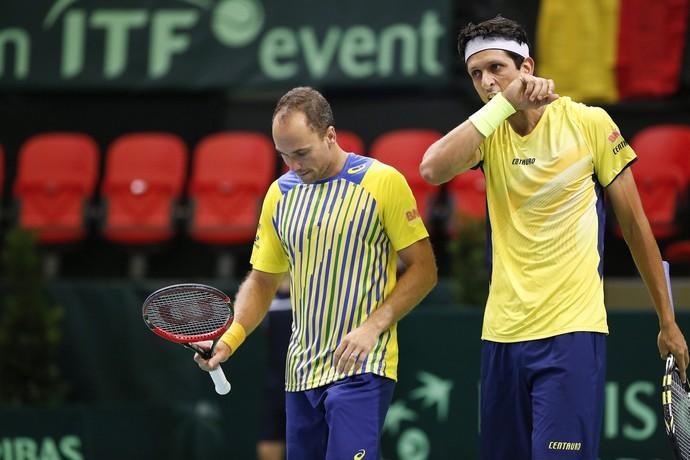 Bruno Soares Marcelo Melo Copa Davis Bélgica tênis (Foto: EFE)