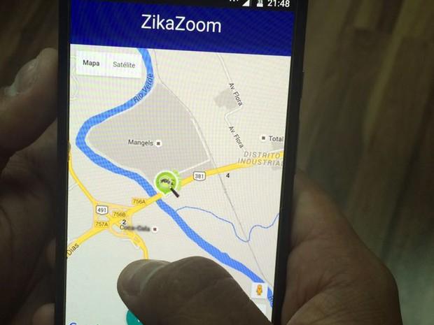 Aplicativo que vai ajudar na denúncia de focos da dengue será disponibilizado a partir de agosto; ZikaZoom; Varginha (Foto: Raíssa Cogo/ZikaZoom)