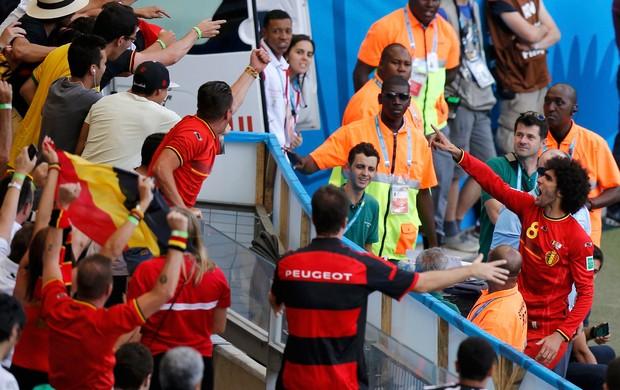 Fellaini Bélgica x Argélia (Foto: Reuters)