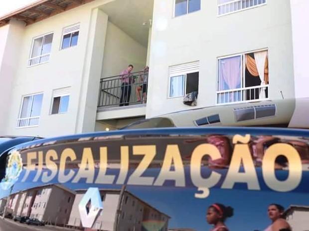 Agentes do CRECI fiscalizaram imóveis no litoral de SP (Foto: Divulgação)