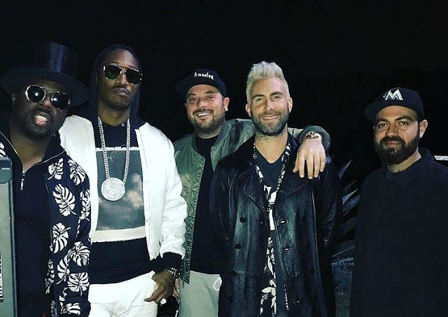 Maroon 5 grava parceria com o rapper Future, 'Cold' (Foto: Reproduo/Instagram)