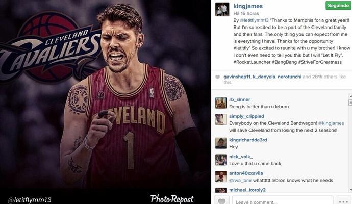 Mike Miller agradece ao Memphis e fala do acerto com o Cleveland (Foto: Reprodução/Instagram)