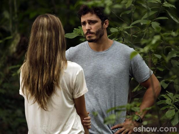 William assume que está em um dilema (Foto: Fábio Rocha/TV Globo)