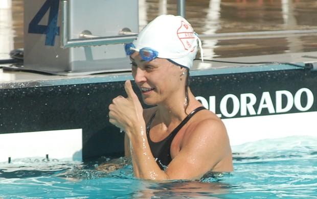 Fabiola Molina disputa prova nos Jogos Regionais (Foto: Tião Martins/ PMSJC)