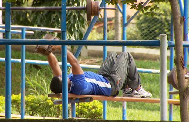 Exercícios é uma condição básica para ter uma vida saudável (Foto: Reprodução EPTV)