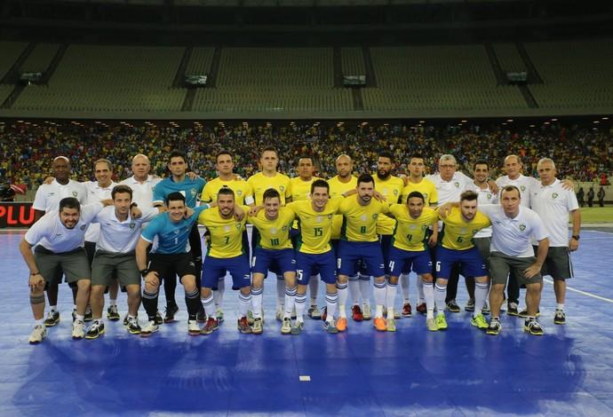 Brasil Portugal amistoso futsal castelão (Foto: Zerosa Filho/CBFS)