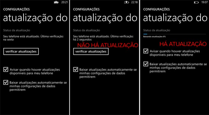 firmware update quando da isso na tela do celular