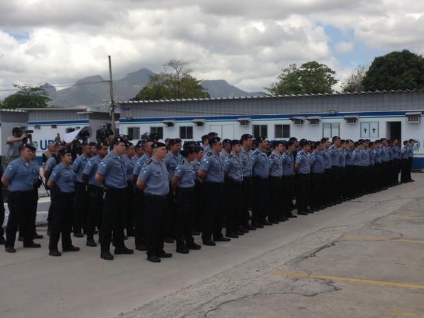 PM do RJ troca o comando de 25 UPPs nesta sexta-feira (6) (Foto: Janaína Carvalho/G1)