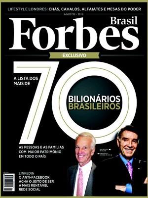 Capa da revista Forbes que chega às bancas nesta terça-feira (Foto: Divulgação)