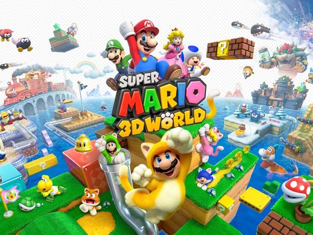 Lançado para Wii U, 'Super Mario 3D World' é um dos games mais recentes do mascote da Nintendo (Foto: Divulgação)