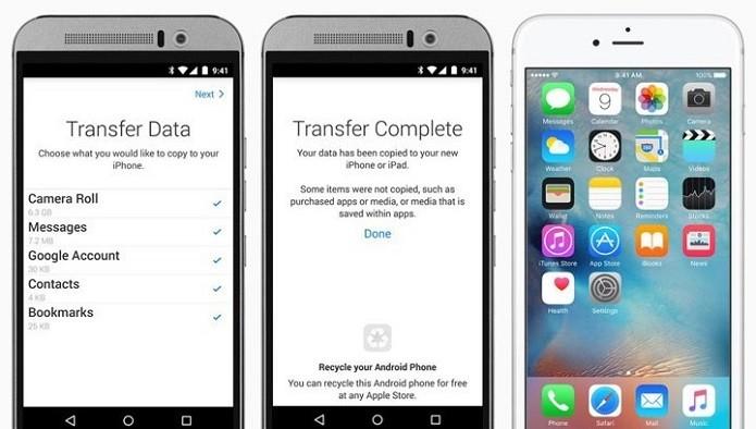 Aplicativo Move to iOS facilitará a migração do Android para o iOS (Foto: Divulgação/Apple)