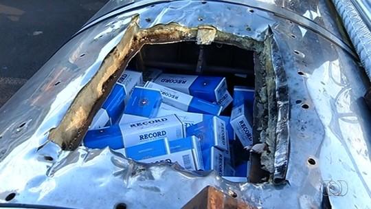 Caminhoneiros são detidos com R$ 22 milhões em cigarros contrabandeados, na BR-364, em GO