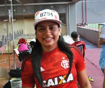 Geicy Alves, meia do Atlético-AC feminino (Foto: Duaine Rodrigues)