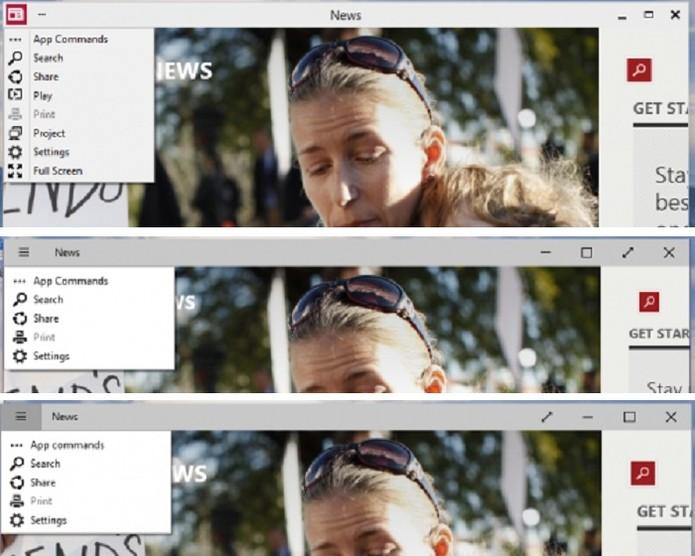 Evolução do Expandir na barra de título baseado na contribuição dos usuários (Foto: Reprodução/Microsoft)