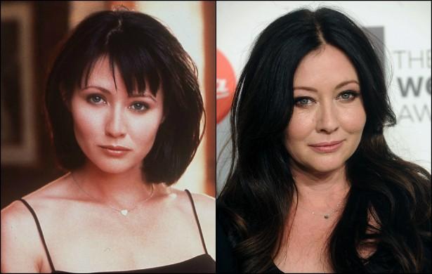 Hoje lembrada como Prue, a primogênita das irmãs bruxas de 'Charmed' (1998–2006), Shannen Doherty, de 43 anos, também esteve em 'Barrados no Baile', no papel de Brenda Walsh. Quando começou a gravar a série das feiticeiras, a atriz estava com 27 anos de idade. (Foto: Getty Images)