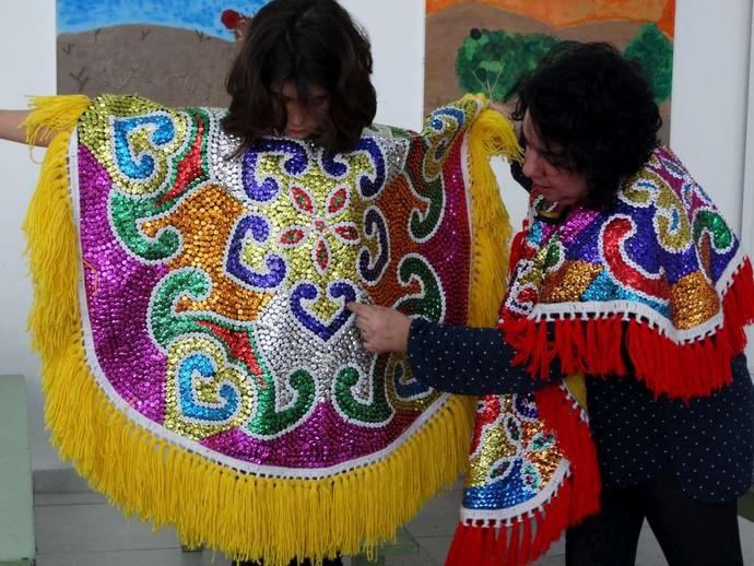 Mariza dá aulas e oficinas de artes no Recife (Foto: Arquivo Pessoal/ Mariza Moreira)
