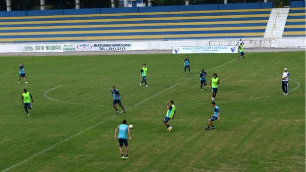 Treino tático do São José Esporte Clube no estádio Martins Pereira (Foto: Danilo Sardinha/Globoesporte.com)