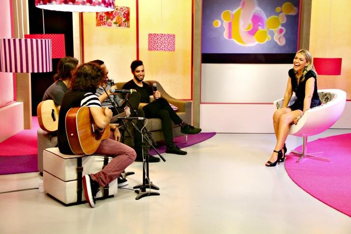 Mistura com Rodaika Alice Bastos Neves Mauricio Saraiva banda Tópaz Gabriela Corrêa Personal Organizer (Foto: Maicon Hinrichsen/RBS TV)